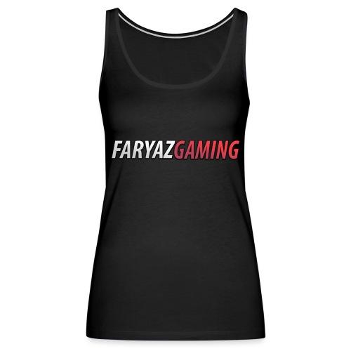 FaryazGaming Text - Women's Premium Tank Top