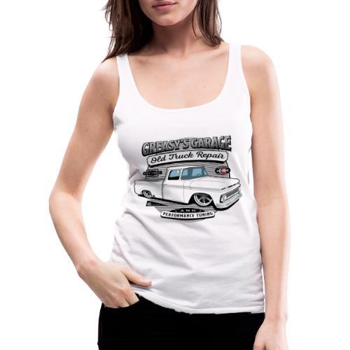 Greasy's Garage Old Truck Repair - Women's Premium Tank Top