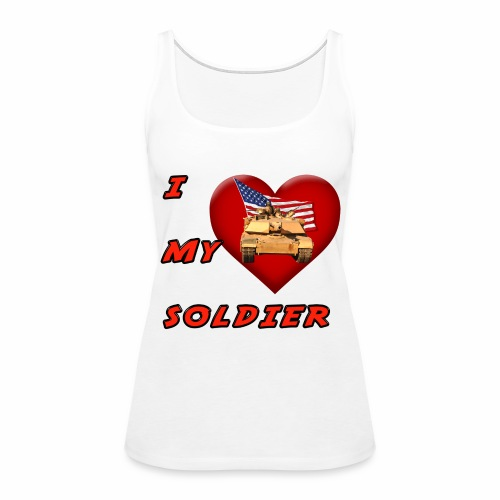 I Heart my Soldier - Women's Premium Tank Top