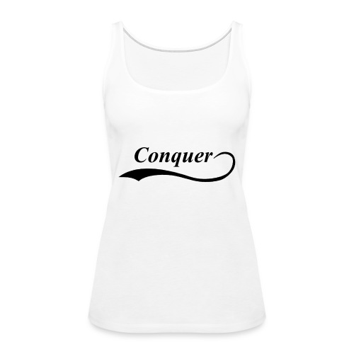 Conquer Baseball T-Shirt - Women's Premium Tank Top