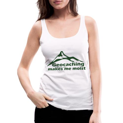 Geocaching in the Rain - Women's Premium Tank Top