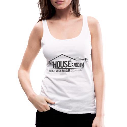 My House Radio Black Logo - Women's Premium Tank Top