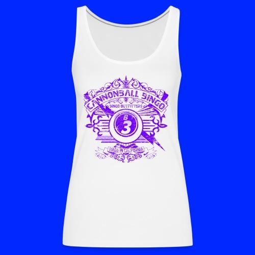 Vintage Cannonball Bingo Crest Purple - Women's Premium Tank Top