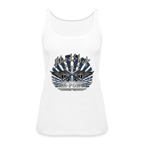 BloodShot Air Force with black - Women's Premium Tank Top