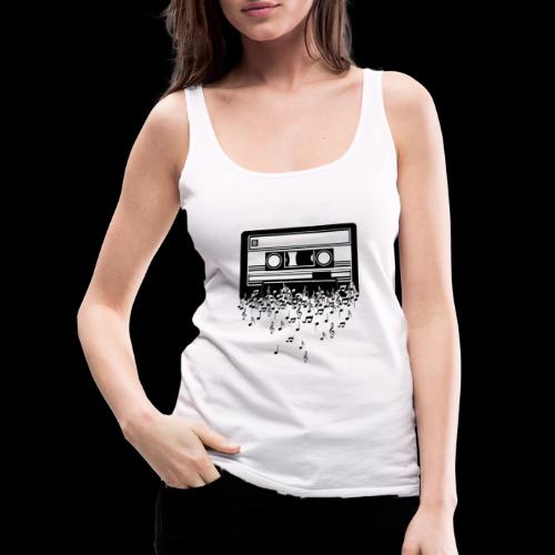 Music Notes Cassette Tape - Women's Premium Tank Top