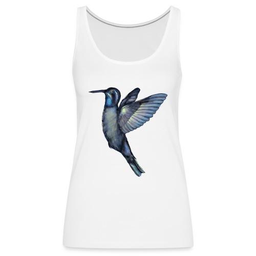 Hummingbird in flight - Women's Premium Tank Top
