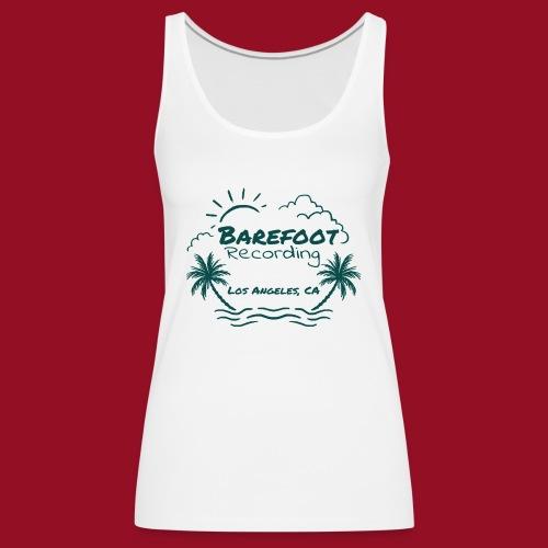 Barefoot Recording Beach Logo - Women's Premium Tank Top