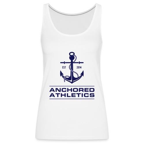 Anchored Athletics Blue Vertical - Women's Premium Tank Top
