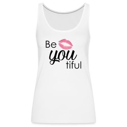 Be-You-Tiful Lip Logo - Women's Premium Tank Top