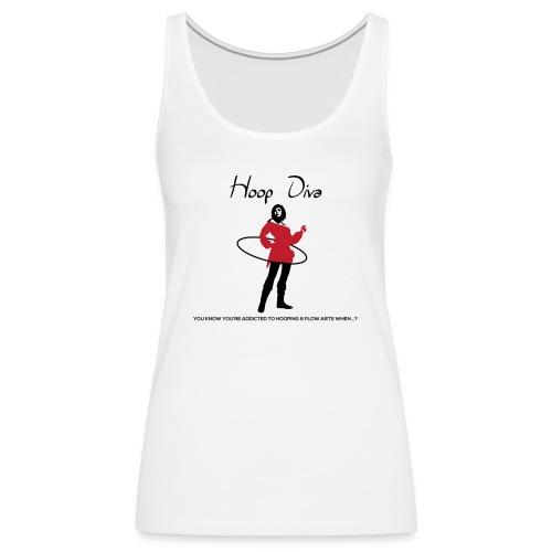 Hoop Diva - Red - Women's Premium Tank Top
