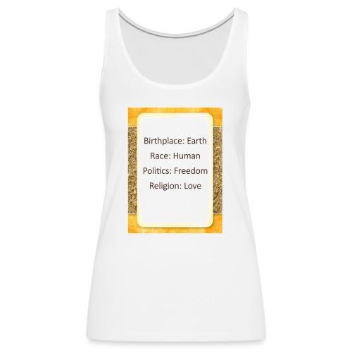 Earth Human Freedom Love - Women's Premium Tank Top