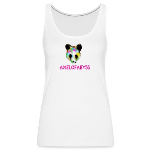 Axelofabyss panda panda paint - Women's Premium Tank Top