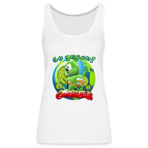Gummibär Go Green Earth Day Earth - Women's Premium Tank Top