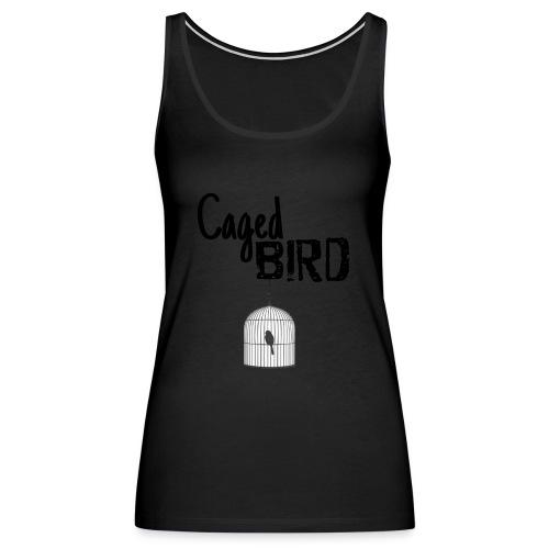 Caged Bird Abstract Design - Women's Premium Tank Top