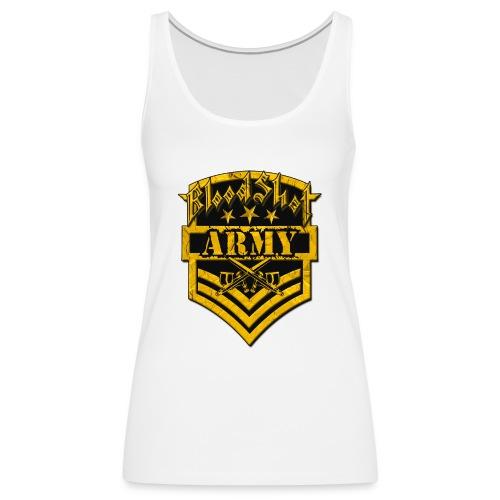 BloodShot ARMYLogo Gold /Black - Women's Premium Tank Top