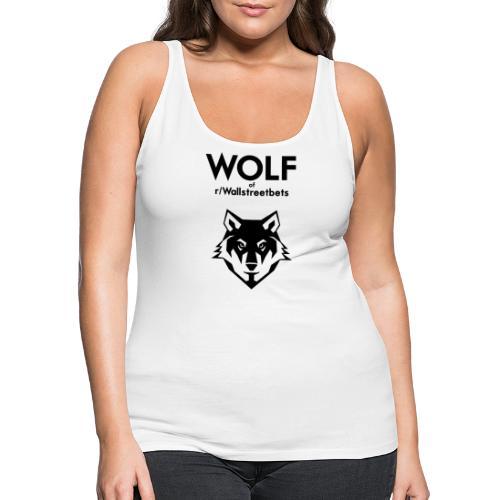 Wolf of Wallstreetbets - Women's Premium Tank Top