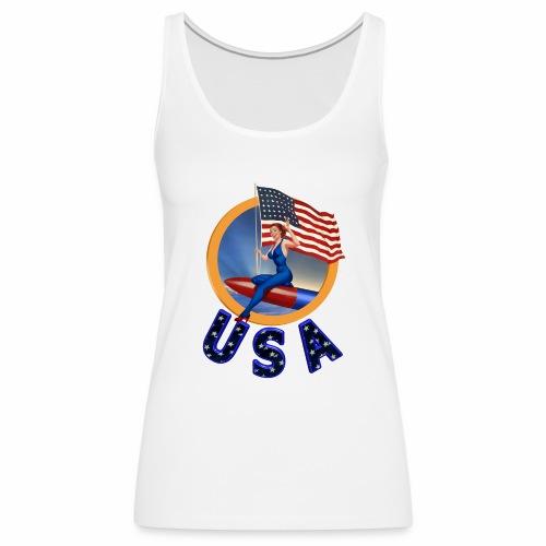 Flag USA - Women's Premium Tank Top