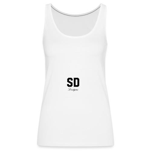 SD Designs blue, white, red/black merch - Women's Premium Tank Top