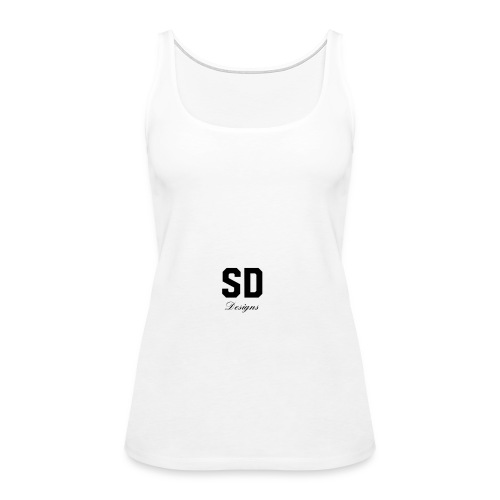 SD Designs blue, white, red/black merch - Women's Premium Tank Top