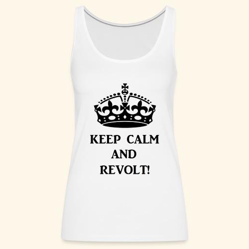 keepcalmrevoltblk - Women's Premium Tank Top