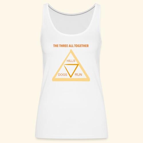 Run4Dogs Triangle - Women's Premium Tank Top