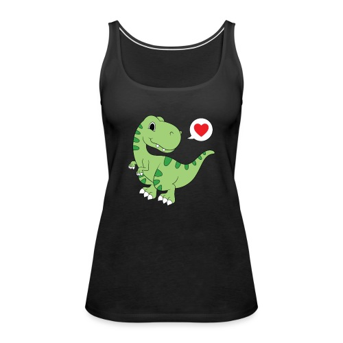 Dinosaur Love - Women's Premium Tank Top