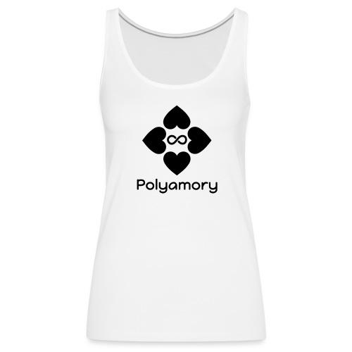 polyamory w logo - Women's Premium Tank Top