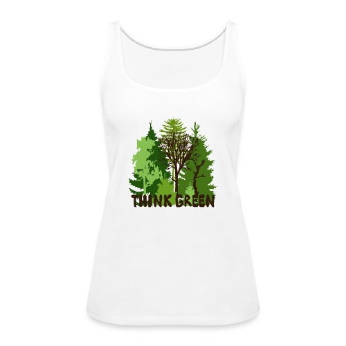 EARTHDAYCONTEST Earth Day Think Green forest trees - Women's Premium Tank Top