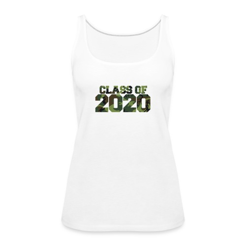 Class of 2020 Camo grad logo - Women's Premium Tank Top