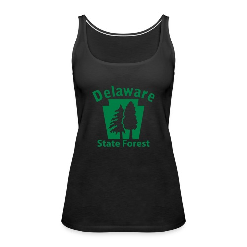 Delaware State Forest Keystone (w/trees) - Women's Premium Tank Top