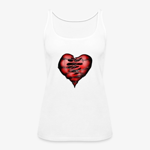 Chains Heart Ceramic Mug - Women's Premium Tank Top