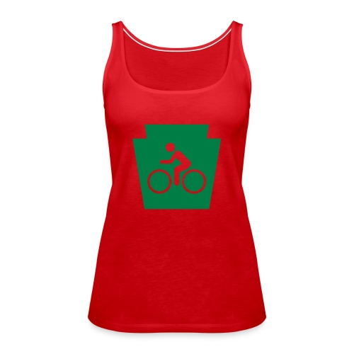 PA Keystone w/Bike (bicycle) - Women's Premium Tank Top