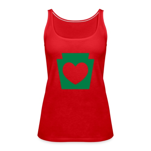 Love/Heart PA Keystone - Women's Premium Tank Top