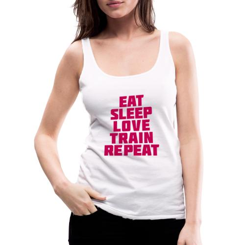 Eat Sleep Gym Motivation - Women's Premium Tank Top