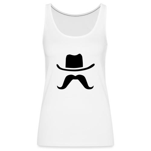 Hat & Mustache - Women's Premium Tank Top