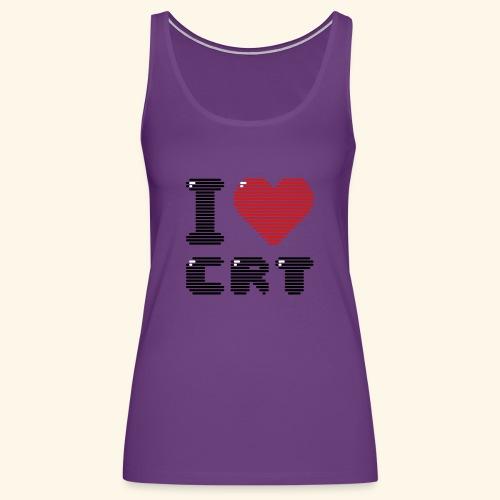 I Love CRT - Women's Premium Tank Top