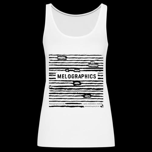 MELOGRAPHICS   Blackout Poem - Women's Premium Tank Top