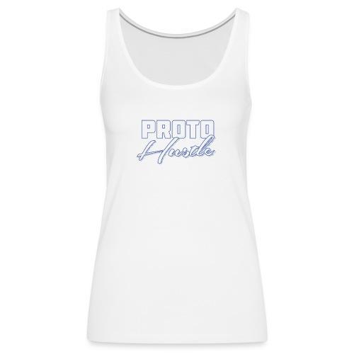 PROTO HUSTLE LOGO BLUE - Women's Premium Tank Top