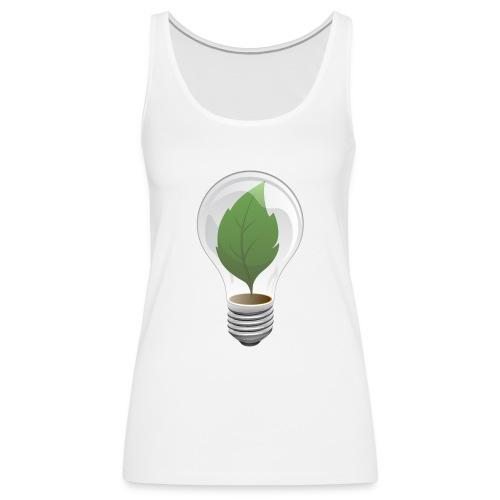 Clean Energy Green Leaf Illustration - Women's Premium Tank Top