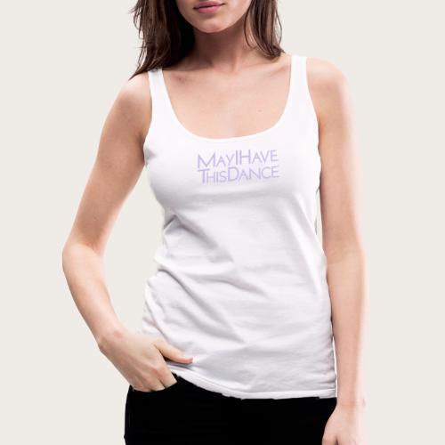 MAYI lavendar logo - Women's Premium Tank Top