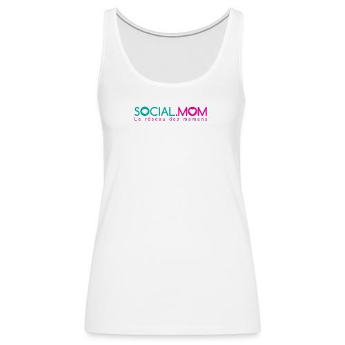 Social.mom logo français - Women's Premium Tank Top