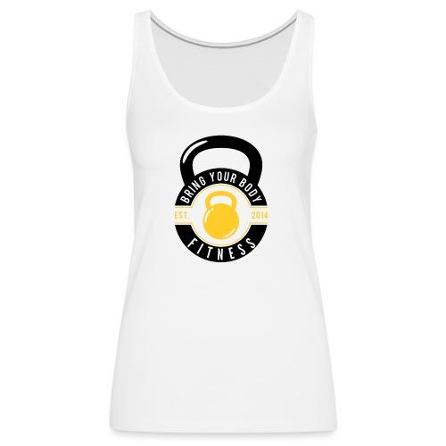 Bring your Body white Background - Women's Premium Tank Top