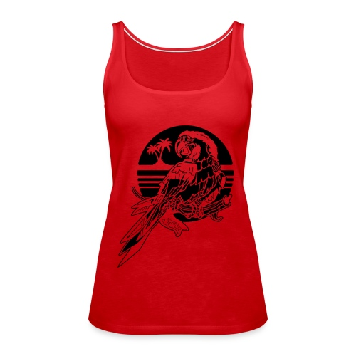 Tropical Parrot - Women's Premium Tank Top