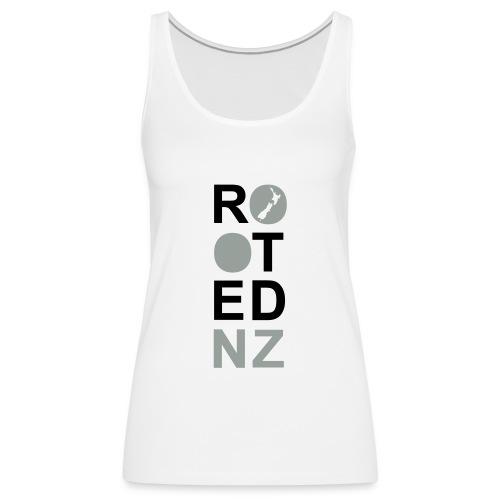 Rooted NZ Vertical beige - Women's Premium Tank Top