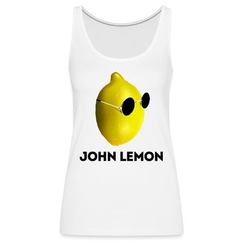 JohnLemon Print3 png - Women's Premium Tank Top
