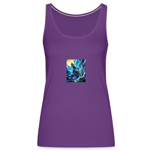 Blue lighting dragom - Women's Premium Tank Top