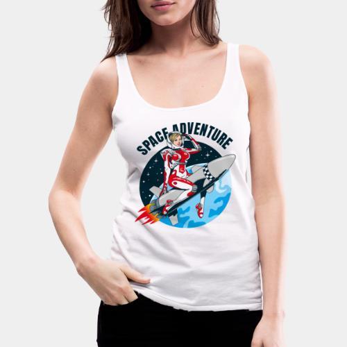 space adventure rocket girl - Women's Premium Tank Top