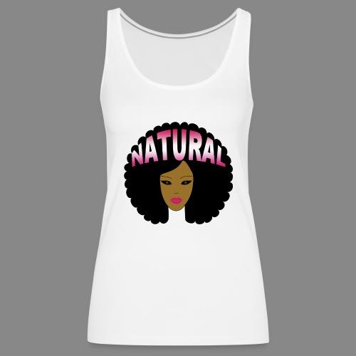 Natural Afro (Pink) - Women's Premium Tank Top