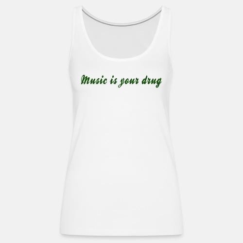 magical_music_text_green - Women's Premium Tank Top