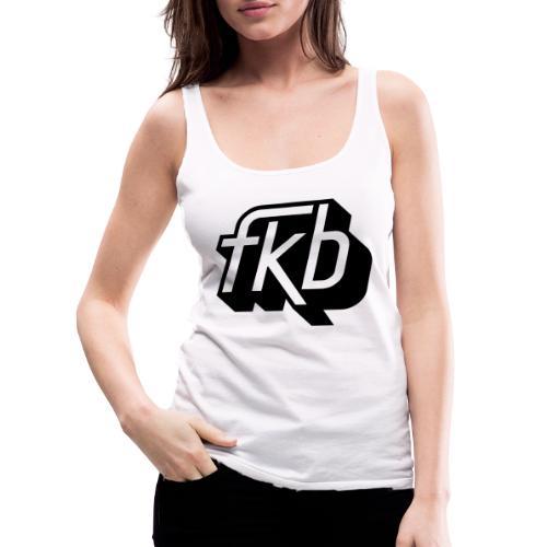 FKB Logo Black - Women's Premium Tank Top